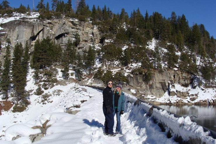 "Steve and I on the Pinecrest dam. ""Hiking."""