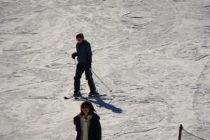This is the only photo of me actually skiing. Eat your heart out.