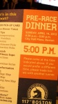 The idea of a dinner for everyone to go to at assigned times stresses me out.