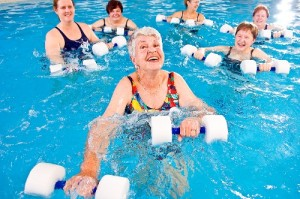 I should probably just give up running and get into water aerobics. They look happier.