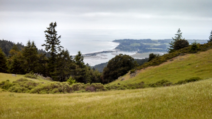 Down there is Stinson Beach. Squint.