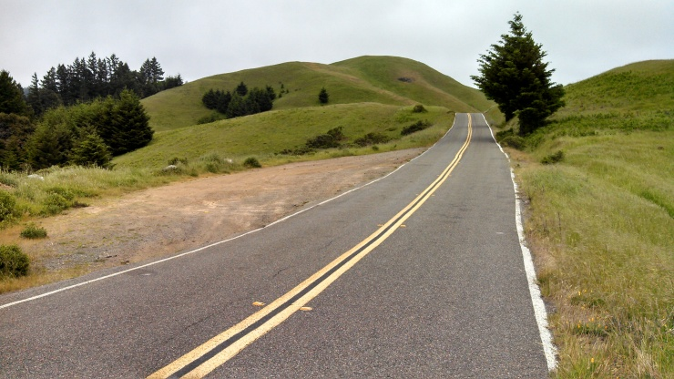 Long, smooth, open roads through the underfunded California State Park.