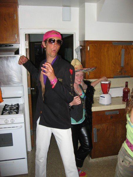 The closest to an appropriate picture I have from parties in college.