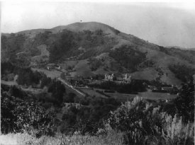 Historic photos of Mt. Baldy from back in the day when San Anselmo was just the seminary at the base of the hill.
