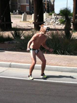 This guy from Cal Poly was really into triathlon.