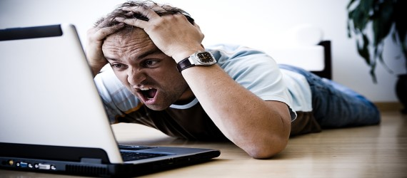 "Oddly, most pictures of people being ""frustrated"" are of people getting angry with their computers. So, there you go."