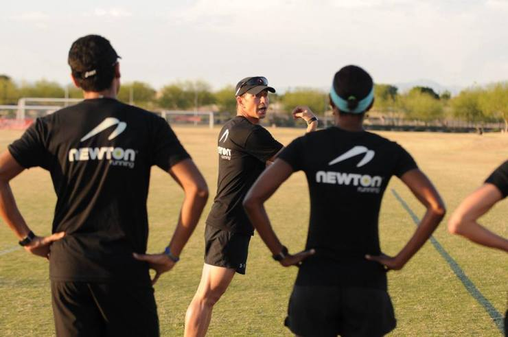 Newton-sponsored running clinic.
