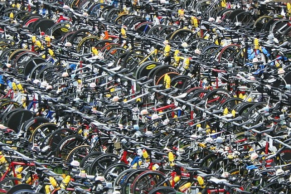 Bikes at IM Frankfurt. That's a lot of money right there. Rupert Ganzer/Flickr