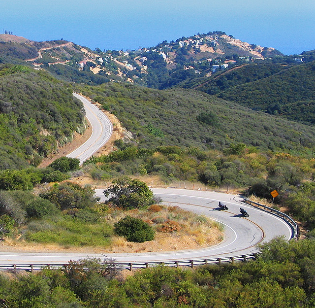 Latigo Canyon - complete with motorcycles