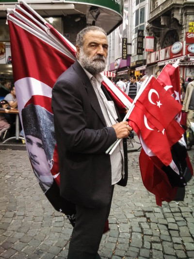 My favorite picture I took was of this guy selling flags in Istanbul. I wonder if there's someone's blog somewhere with a picture of me.