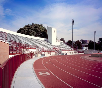 The track stadium at USC. Trojan Pride, or whatever the cheer is I can never remember.