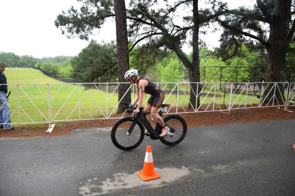 Apparently, I decided to do a trackstand in the middle of the race?